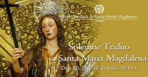 Triduo a Santa María Magdalena