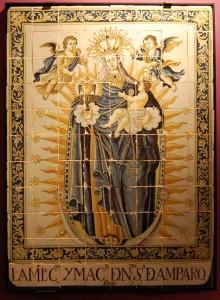 Azulejo de Ntra. Sra. del Amparo. 1769. Toledo, colección particular.